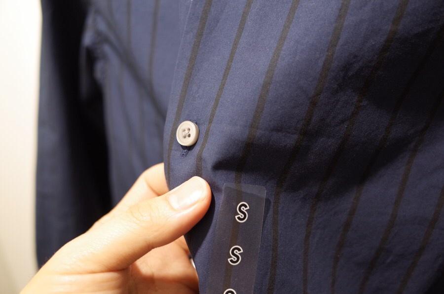 ストライプオープンカラーシャツ(長袖)+E写真②