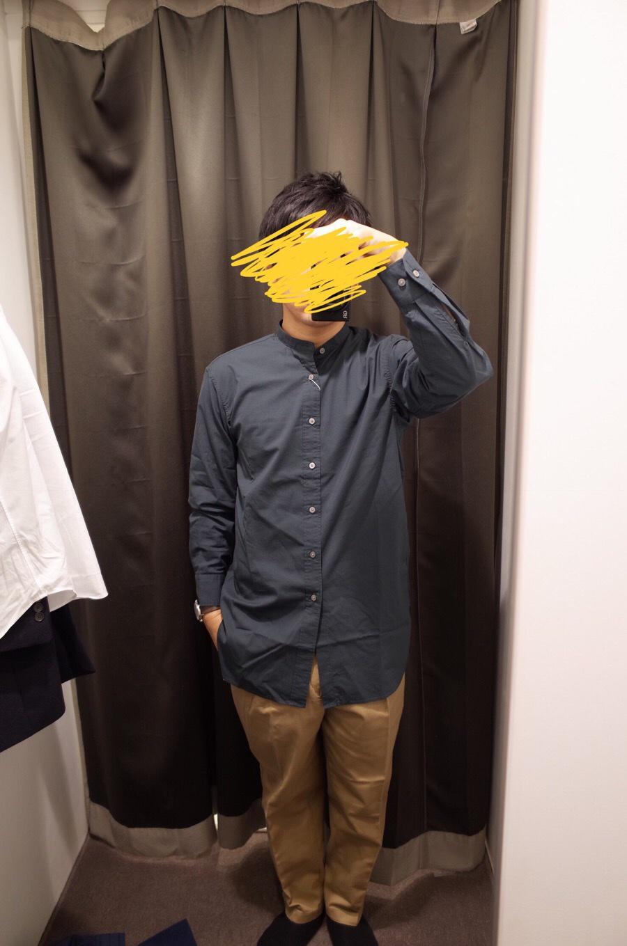 スタンドカラーシャツ(長袖)+E写真③