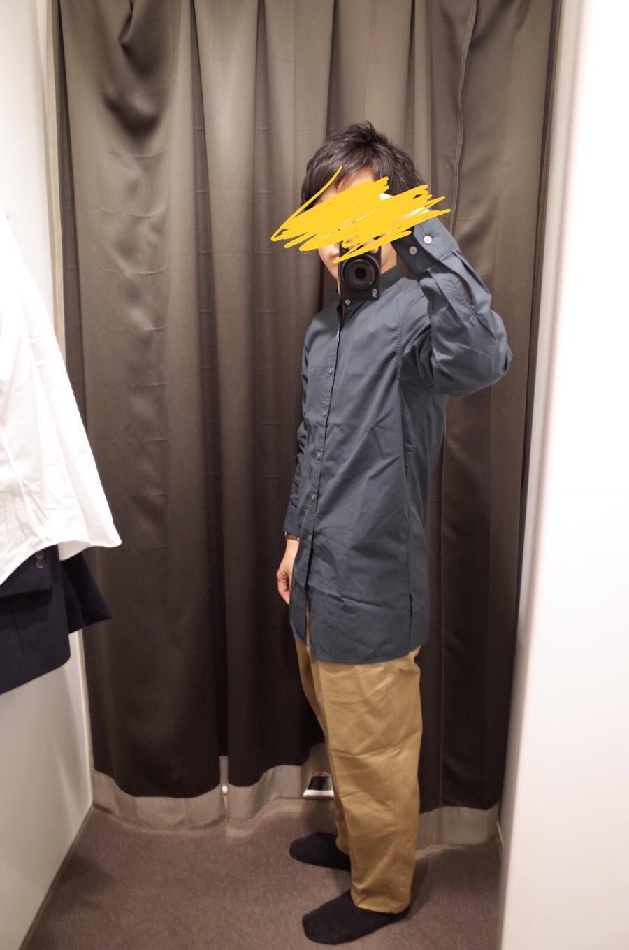 スタンドカラーシャツ(長袖)+E写真②