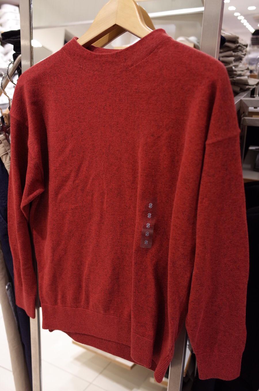 コットンモックネックセーター(長袖)+E写真②