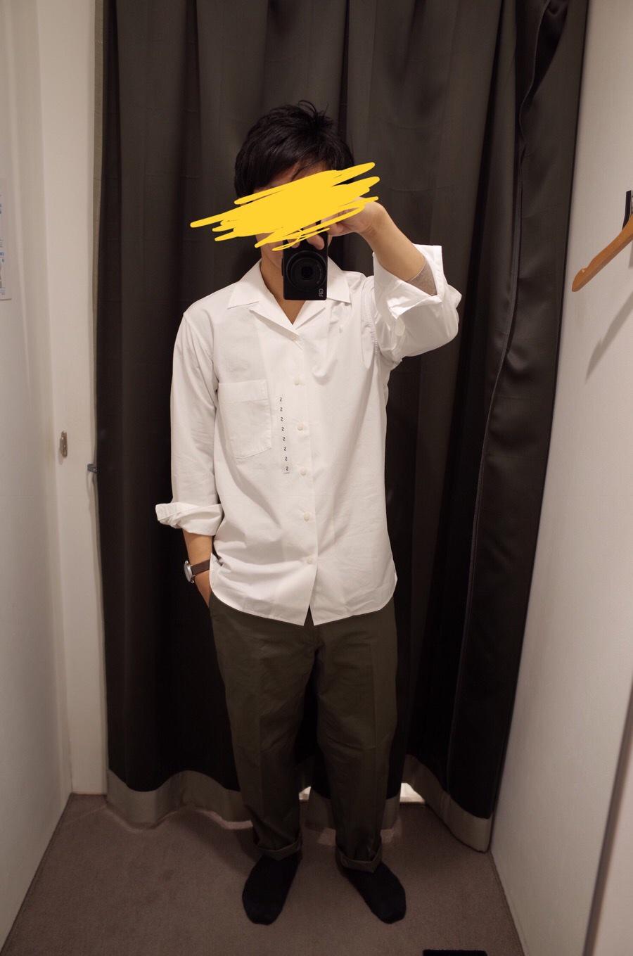 オープンカラーシャツ(長袖)+E写真①