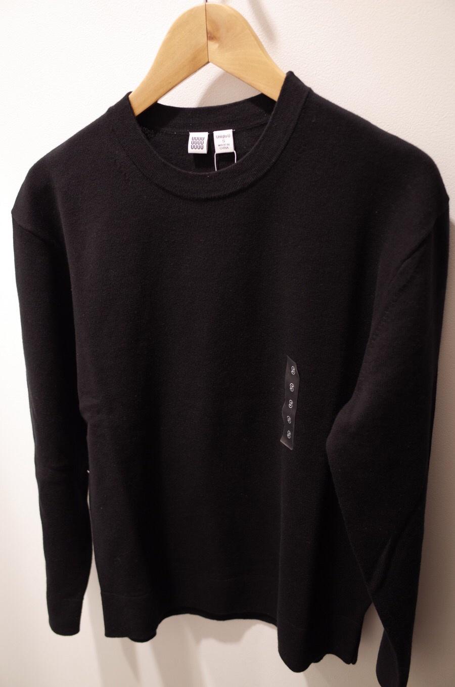 コットンカシミヤクルーネックセーター(長袖)+E写真①