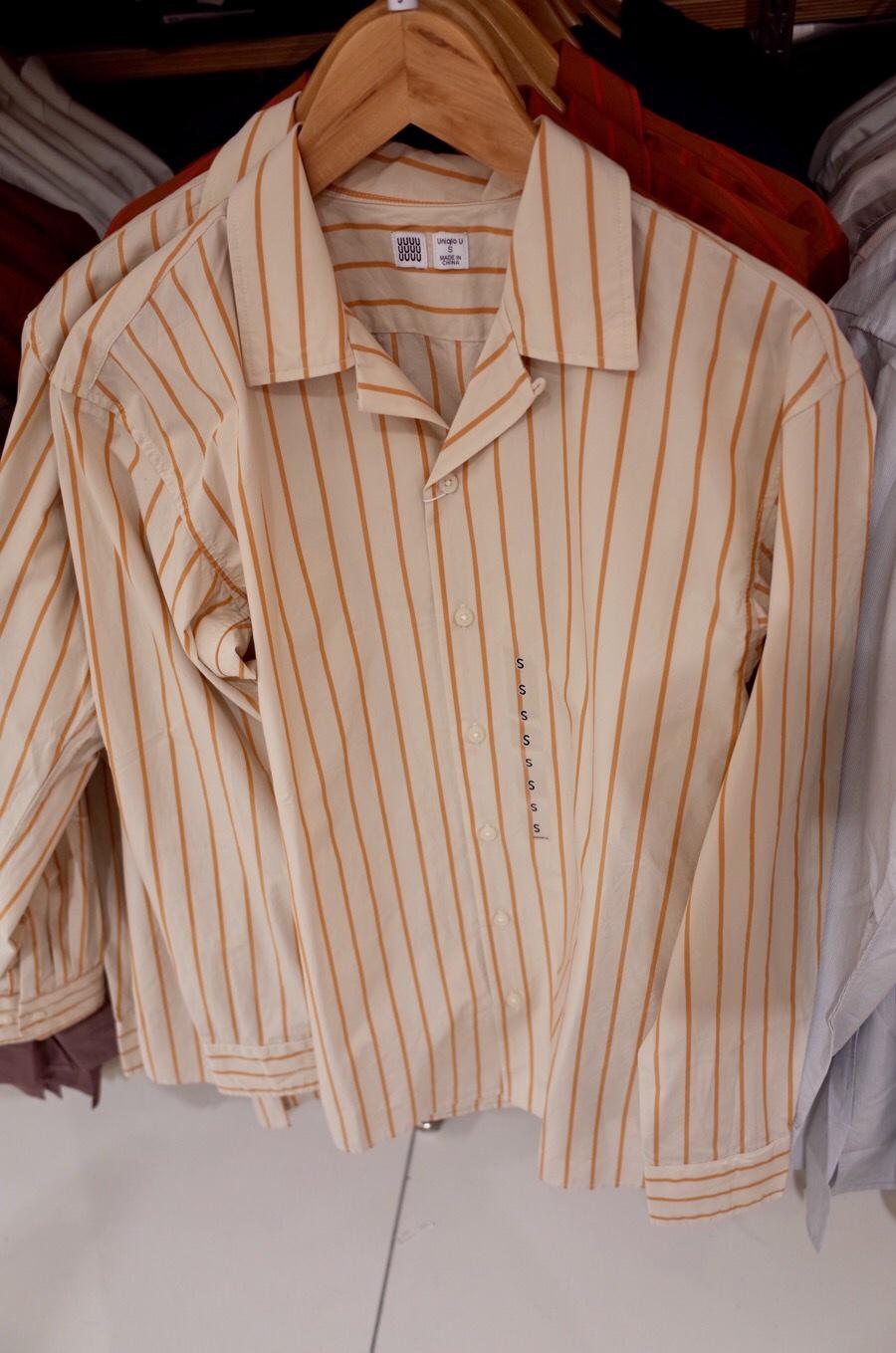 ストライプオープンカラーシャツ(長袖)+E写真④