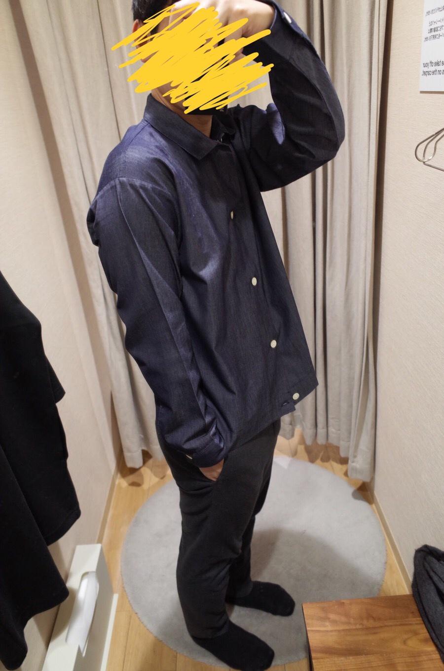 ジャパンファブリックインディゴ長袖シャツ
