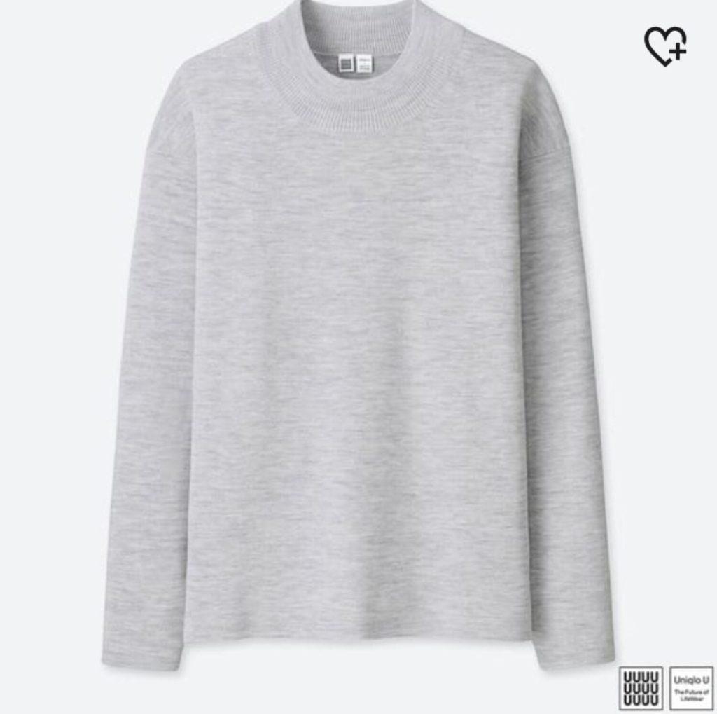 ミラノリブモックネックセーター