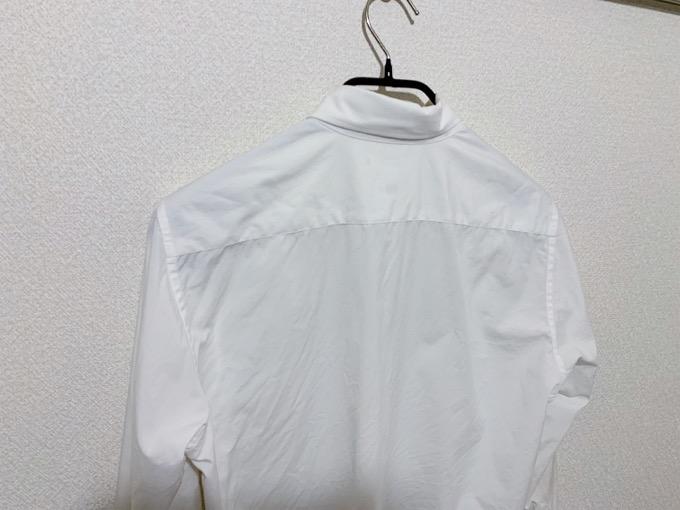 ファインクロスシャツ 乾燥後