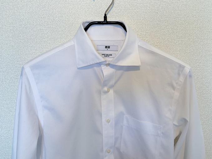 スーパーノンアイロンシャツ 乾燥後