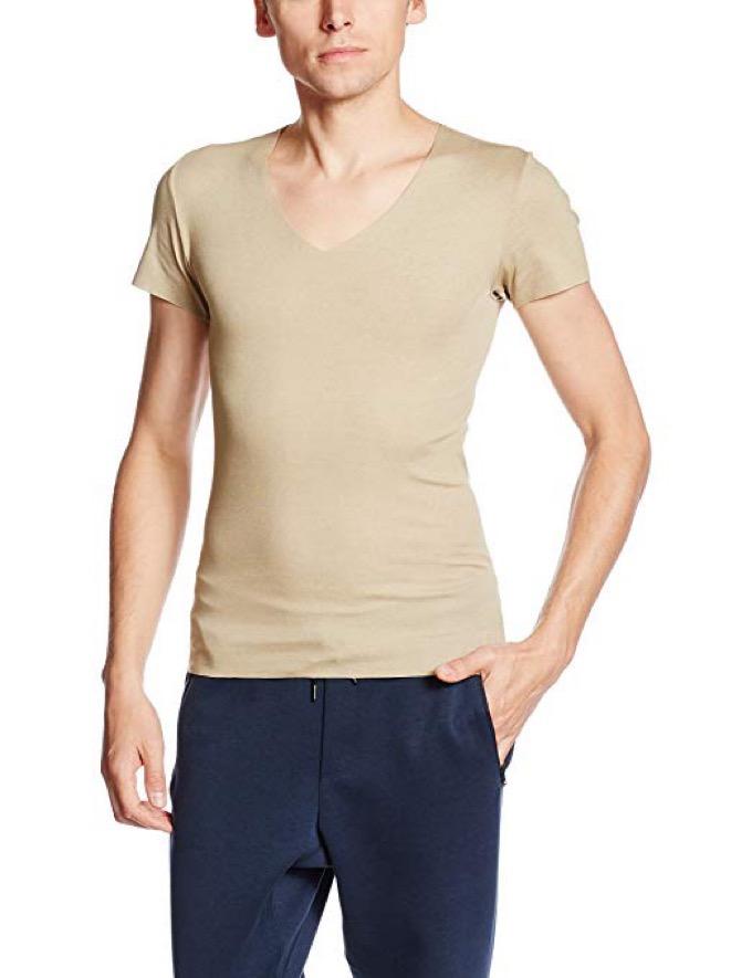 グンゼ YG CUT OFF(カットオフ) VネックTシャツ
